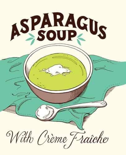 asparagus soup illustration heather hardison