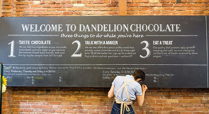 dandelion chocolate in san francisco