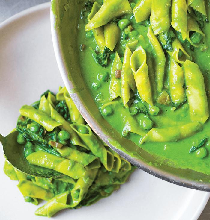 garganelli prosciutto peas flour water cookbook