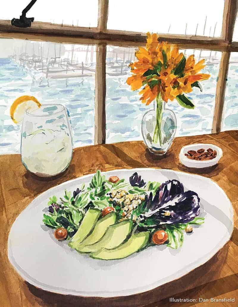 salad at greens restaurant