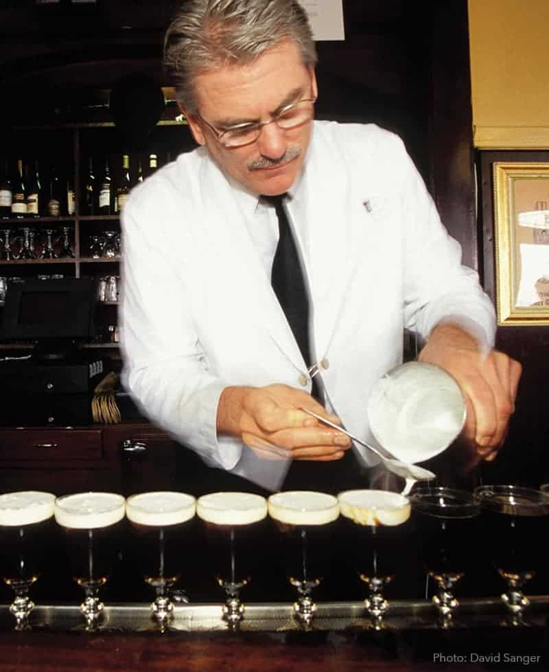 Irish coffee at the bar