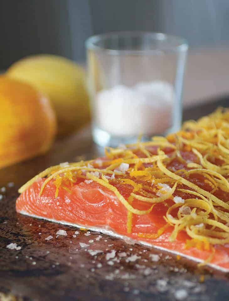 citrus cured salmon from nichole accettola of kantine