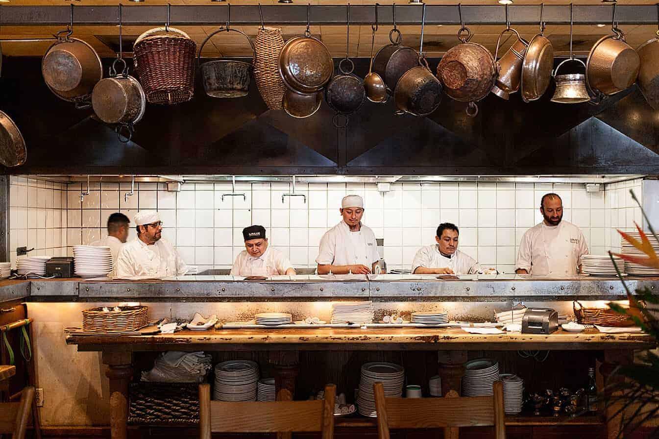 in the kitchen at kokkari
