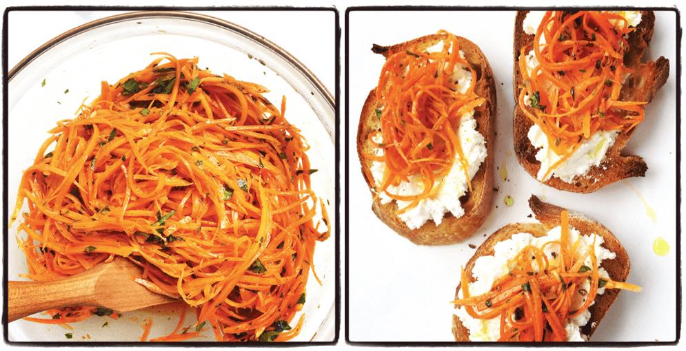 moroccan pickled carrots bruschetta