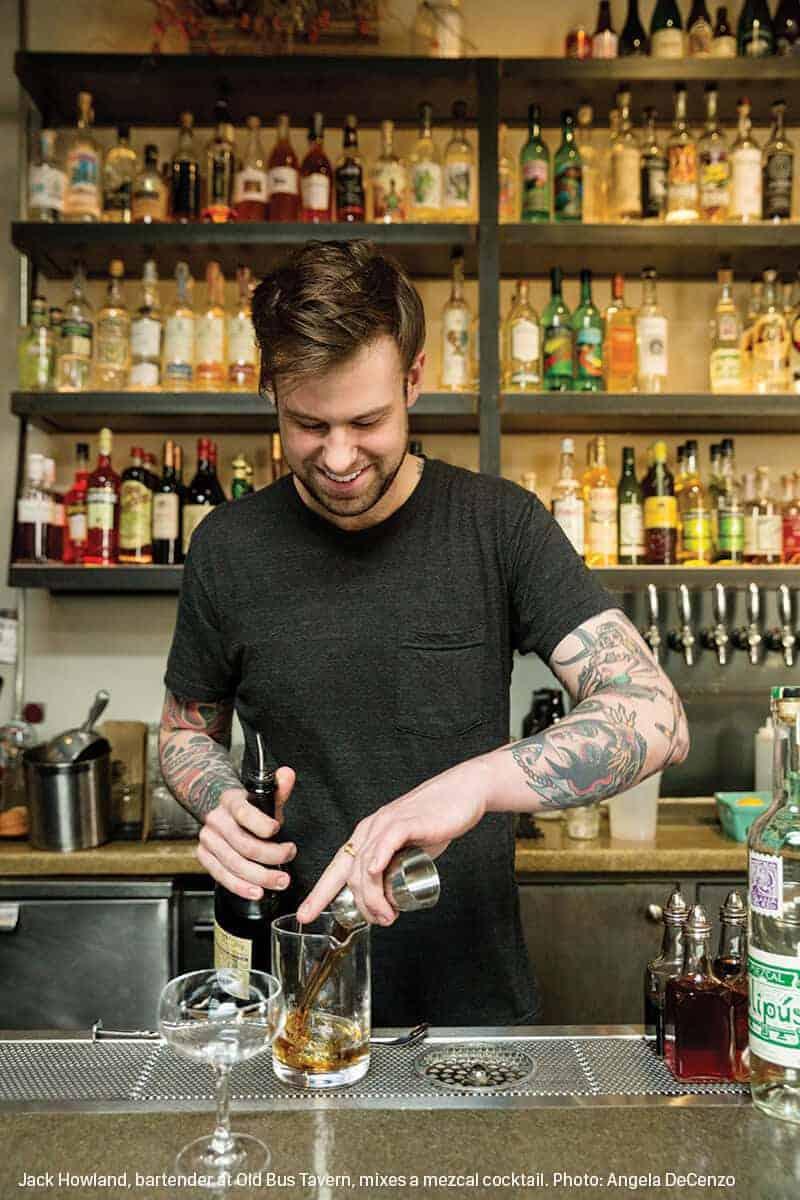 jack howland bartender at old bus tavern