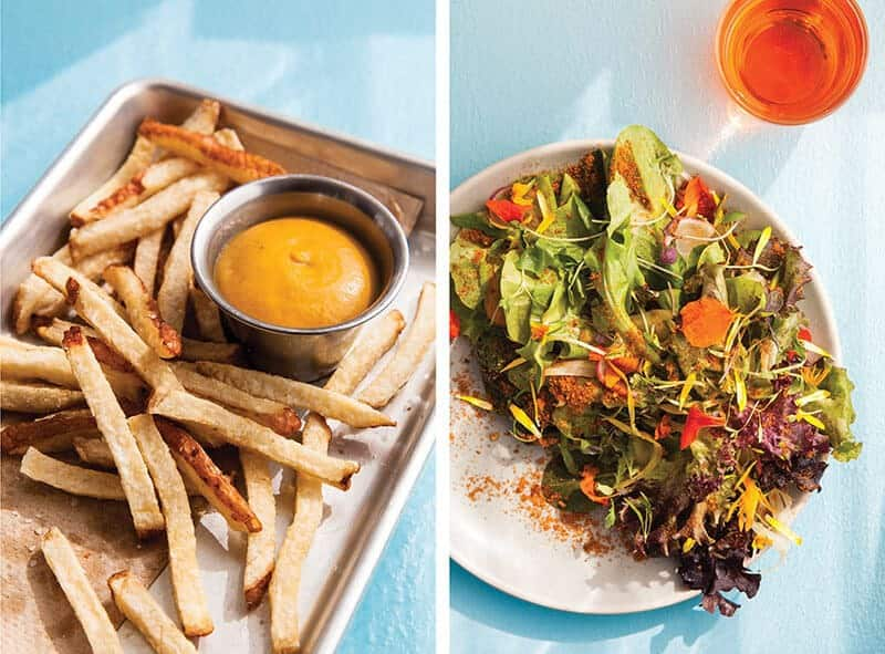 pickled french fries salad als place