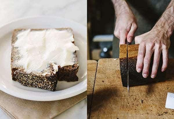 sliced rye bread toast