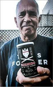 bruce cole with bushido sake