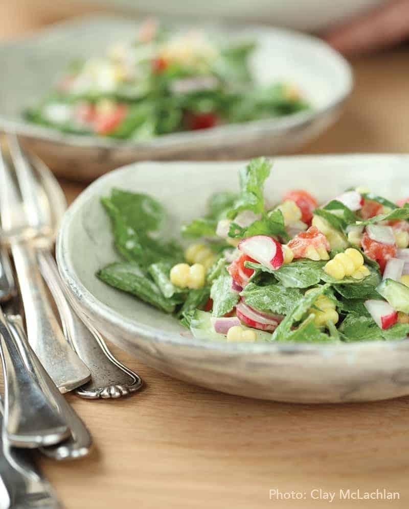 radish leaf salad