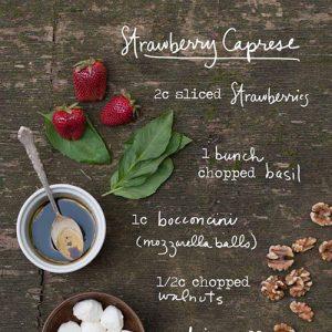 strawberry caprese