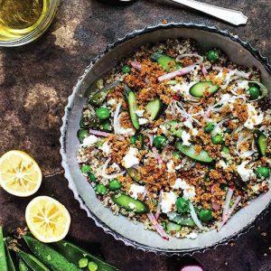 fried quinoa salad