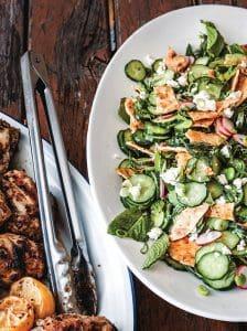 sam mogannams spring fattoush salad