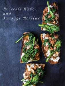 broccoli rabe tartine
