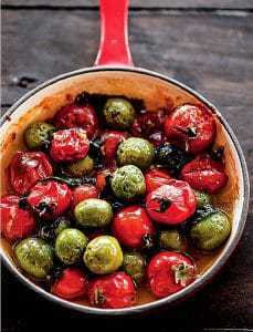Roasted Castelvetrano Olives and Cherry Tomatoes