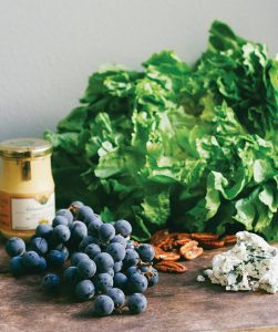 Cooking with San Francisco Cooking School: Escarole Salad with Concord Grapes