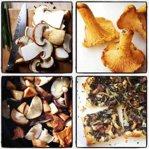 mushroom flatbread