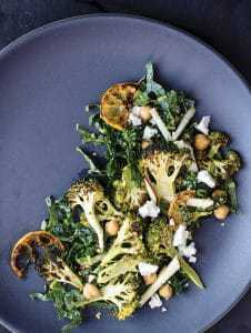 roasted broccoli salad charred lemon kale (1)