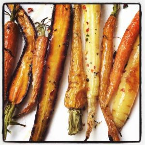 roasted carrots miso butter
