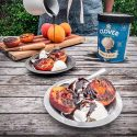 Grilled Peaches with Balsamic Fudge and Vanilla Ice Cream
