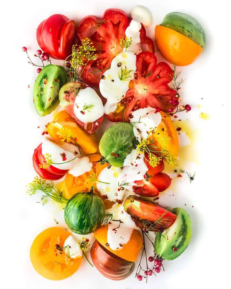 tomato salad savory yogurt dressing