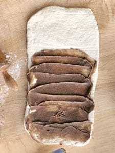 cinnamon knot dough with filling