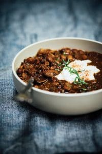 Cocoa-Spiced Bean and  Lentil Soup
