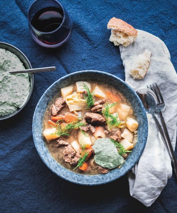 beer braised lamb stew