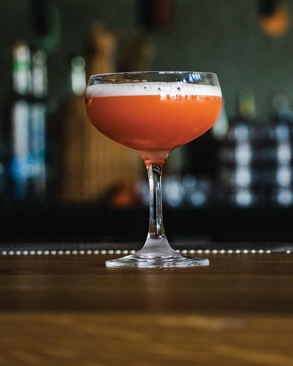 pink flamingo cocktail at elda