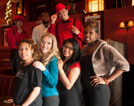 student staff at old skool cafe