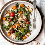 shell bean purslane salad