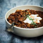 spiced-cocoa bean lentil soup