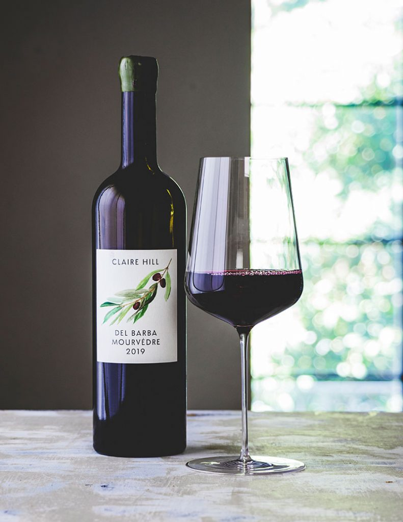 Claire Hill Wines, Del Barba Vineyard, Mourvédre, Contra Costa 2019