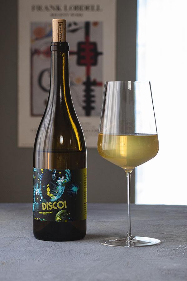 bottle of subject to change disco wine